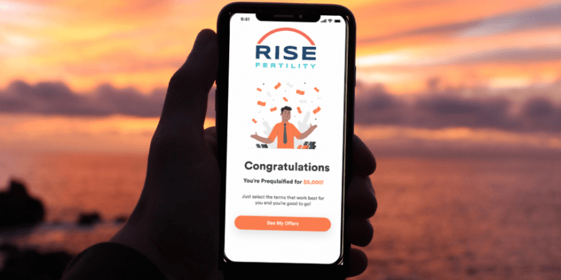 rise fertility online loan application